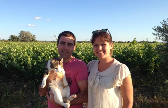 Caroline and Thomas from Domaine Rouge Bleu