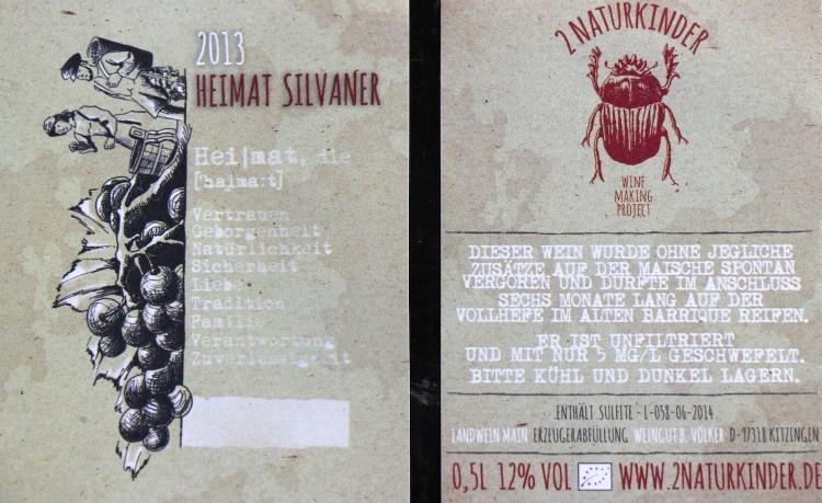 Heimat Silvaner label
