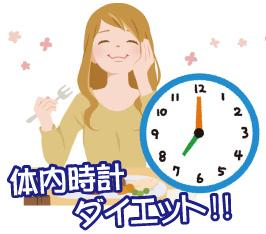 体内時計ダイエット法!食べても太らない時間に食事を
