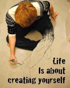 Encouragement - Creating yourself