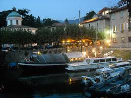 Loppia Harbour by Night - View of the Restaurant