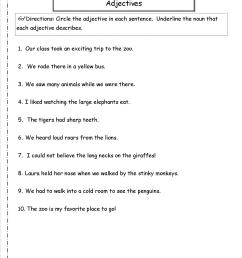 Free Using Adjectives Worksheets [ 1650 x 1275 Pixel ]