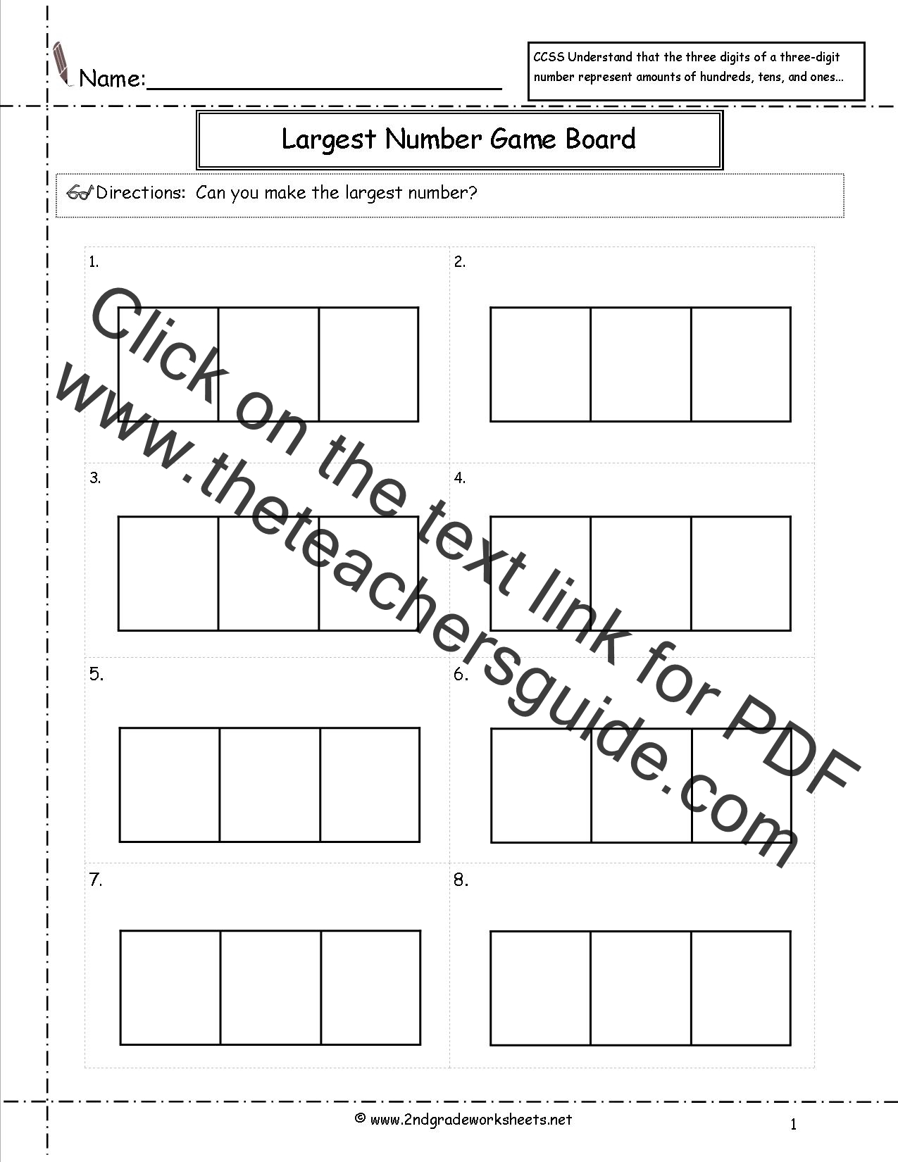 Ccss 2 Nbt 1 Worksheets Place Value Worksheets