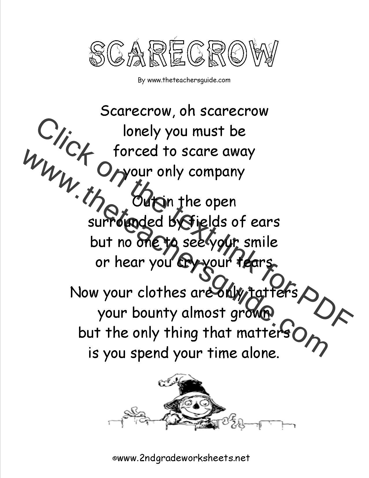 Poem Comprehension Worksheets