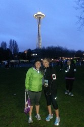 Pre-race in front of the Needle