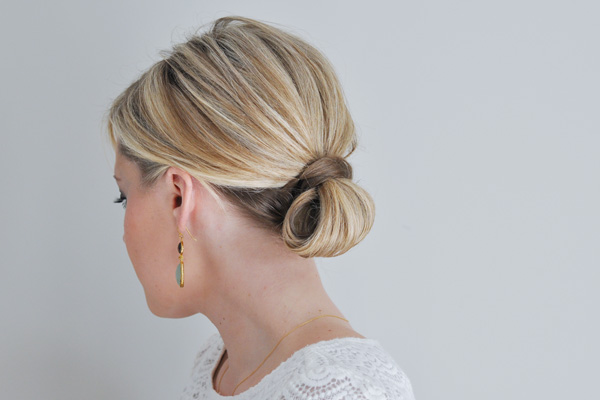 the loop updo hair tutorial  The Small Things Blog