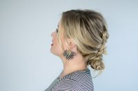 Dutch Braid Messy Bun Hair Tutorial  The Small Things Blog