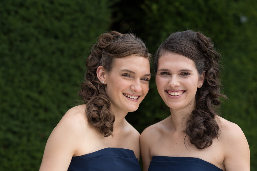 Profile photo of wedding harpist Karina On Left and Adel on Right
