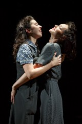 Adina Verson and Katrina Lenk in INDECENT written by Paula Vogel, created by Paula Vogel and Rebecca Taichman, directed by Rebecca Taichman. Photo by Carol Rosegg, 2015.