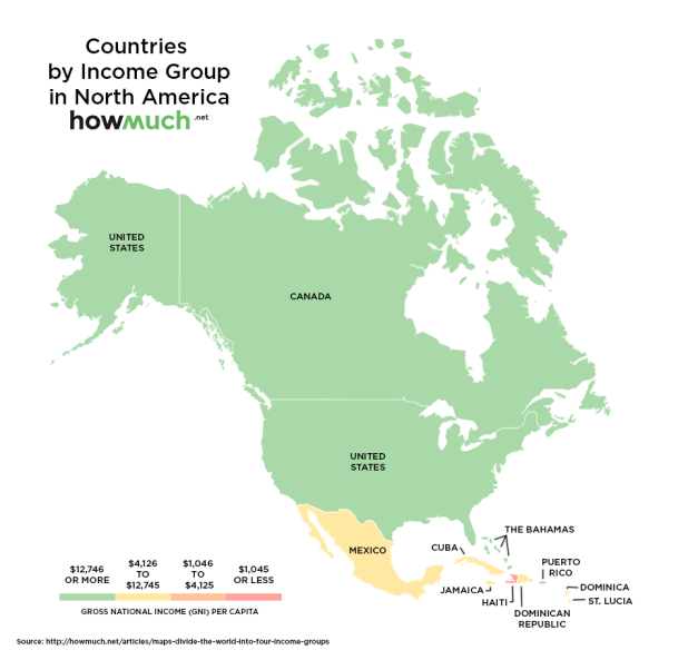 Income groups in North America