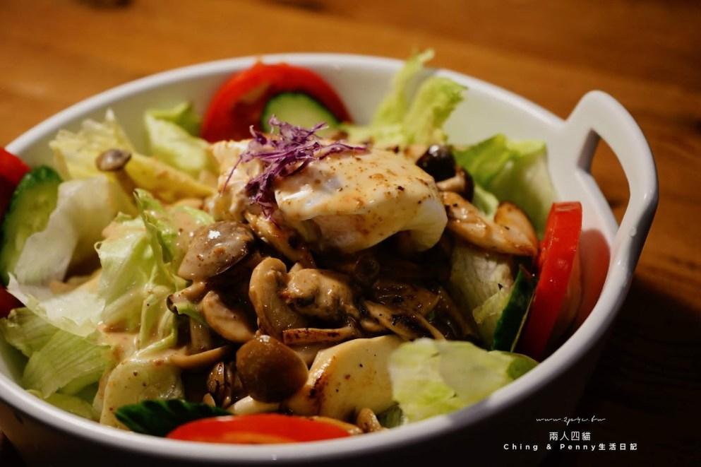 Toast Chat 東區貓咪餐廳 綜合野菇溫沙拉