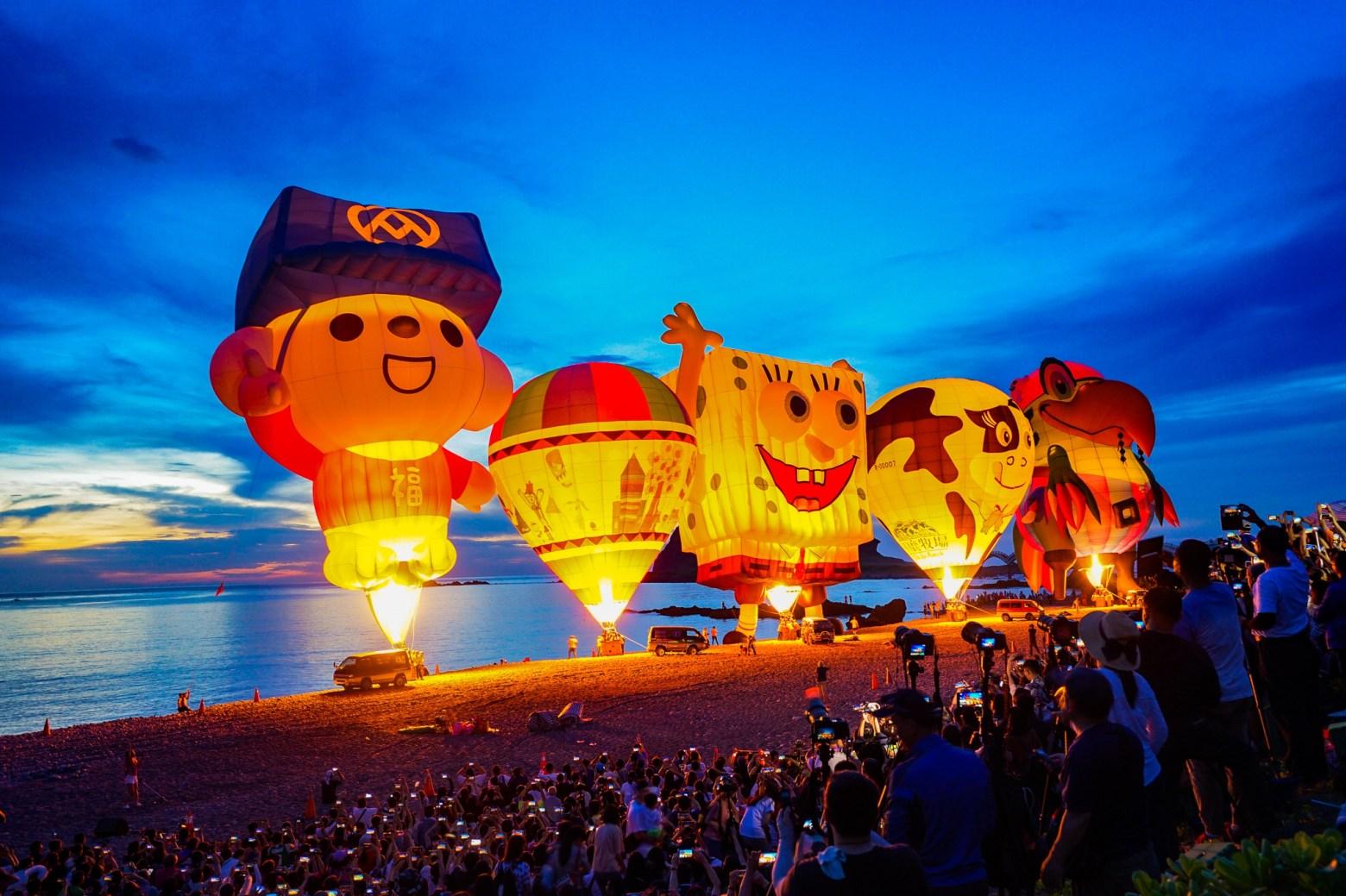 2019熱氣球光雕,台東熱氣球嘉年華光雕實拍