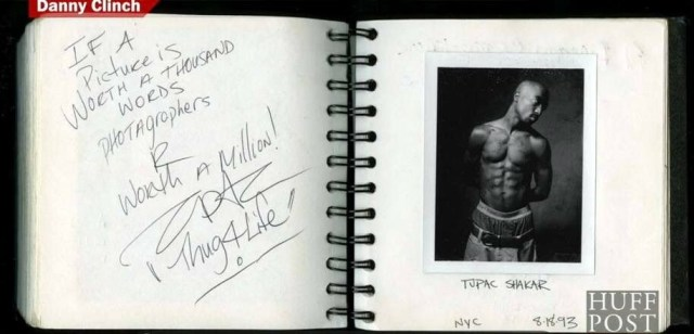 Autograph To Photographer Danny Clinch - Tupac's Handwritten Miscellaneous