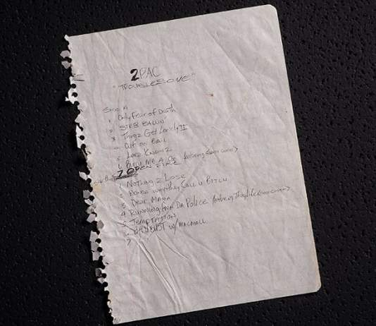 Tupac's Handwritten Lyrics, Poems, Tracklists, Letters