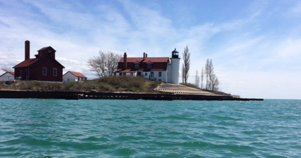 Point Betsie Lighthouse in Benzie County, Michigan.