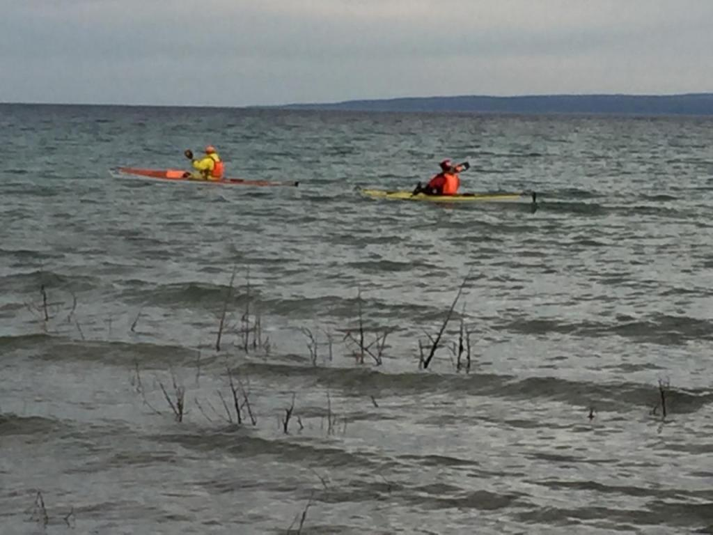 Kayak launch from Nine Mile Point Michigan on 4/25/17.