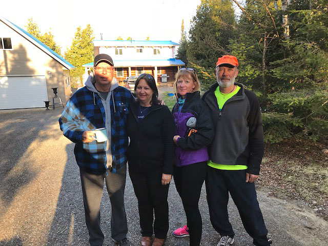 Marc and Yvette with Joe and Peggy from 2 Paddling 5.