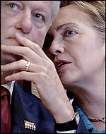 Nervous Bill and Hillary