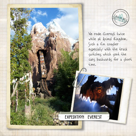 Expedition Everest digital scrapbook page