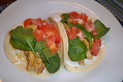 Homemade Chicken Soft Tacos