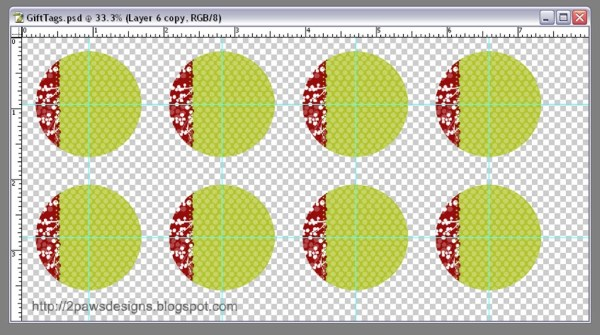 Hybrid Gift Tags: Photoshop Layout