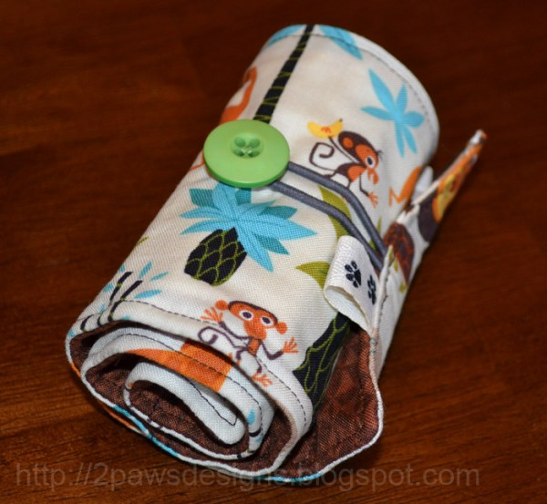 Jungle Crayon Roll: Closed