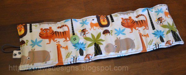 Jungle Crayon Roll: Outer Fabric