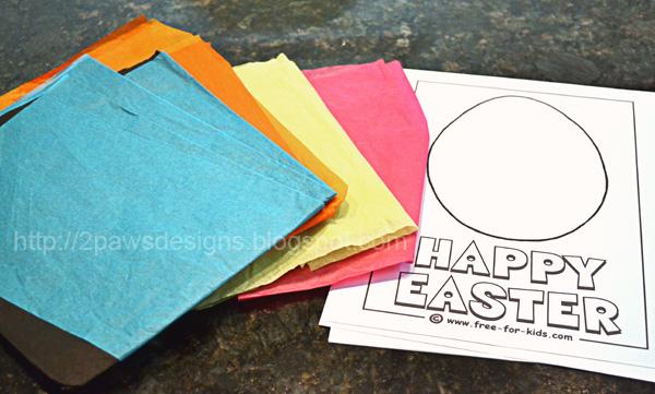 Tissue Paper Eggs: Supplies