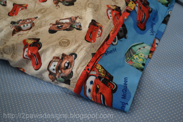 Disney 'Cars' Pillowcase: Detail of Fabrics