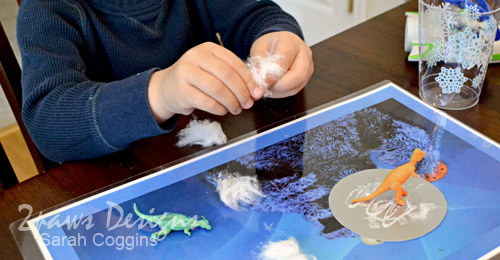 Dino Snow Globe craft