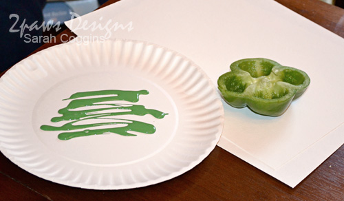 Green Pepper Stamping: Supplies