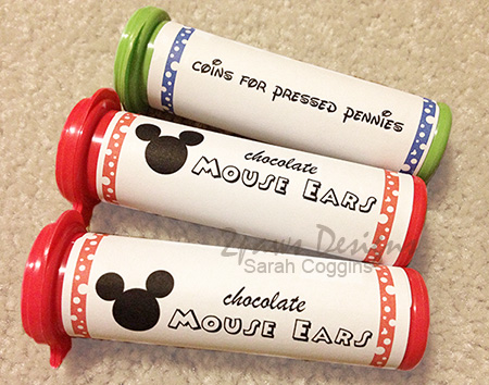 Disney Altered M&M tubes
