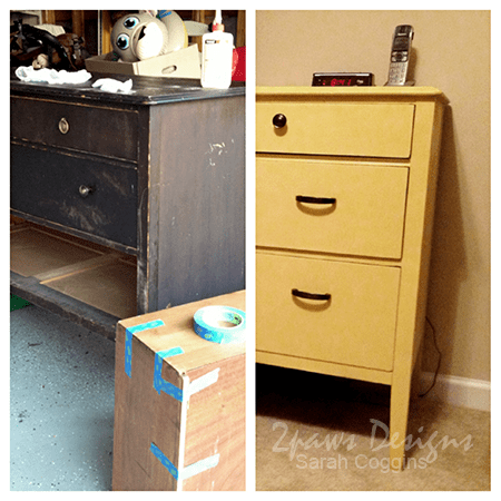 Painted Yellow Dresser: Before & After