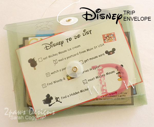 Disney Trip Envelope 2013