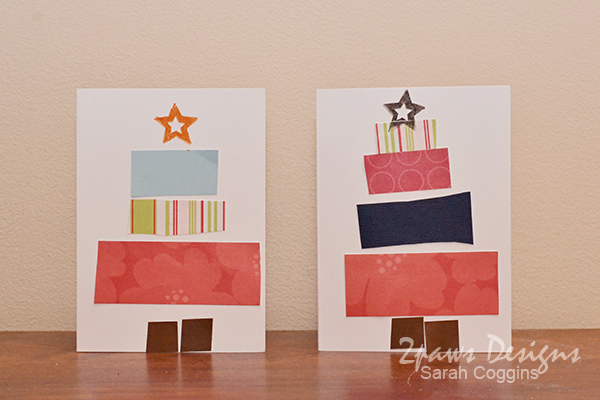 Preschooler Pieced Tree Christmas Cards