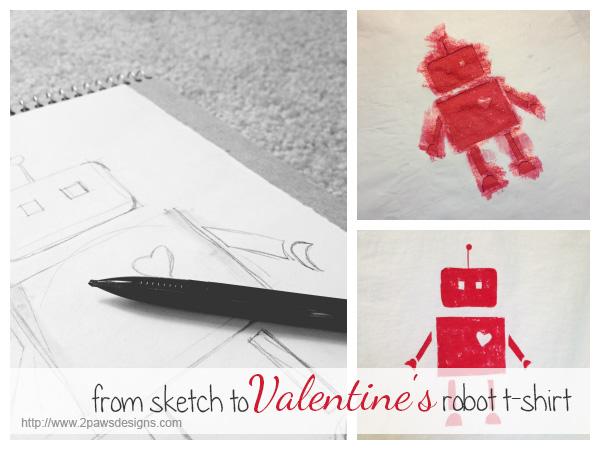 Valentine's Robot T-Shirt