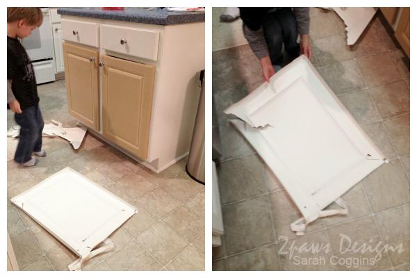 Kitchen Before: Laminate Doors