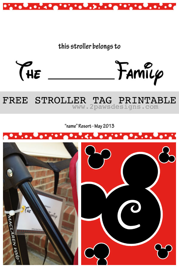 Friday Freebie: DIY Disney Stroller Tag Template