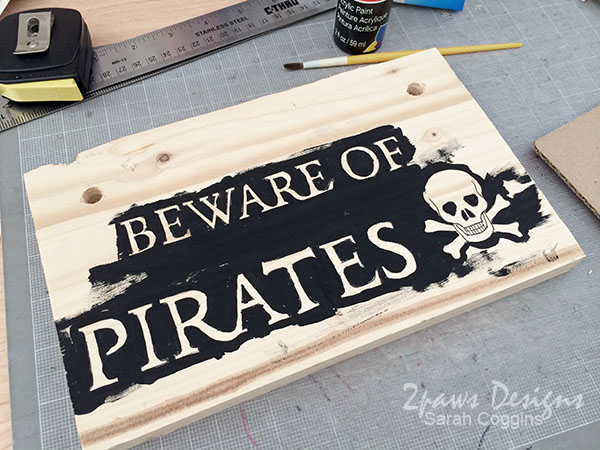 Beware Of Pirates Sign: painting