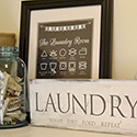 DIY Laundry Room Wood Sign