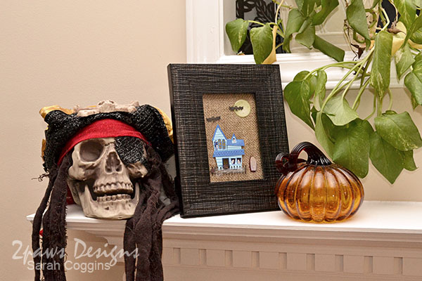Framed Halloween Art - mantel display