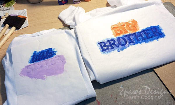 Big Brother Little Sister Shirts: Painting