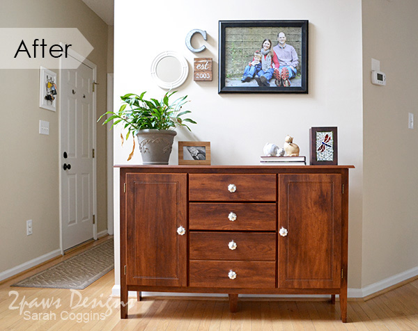 Foyer Console Table Makeover: After