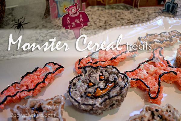 Halloween Monster Cereal Treats