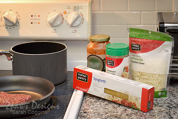 Baked Spaghetti: Ingredients #MinionsMovieNight #ad