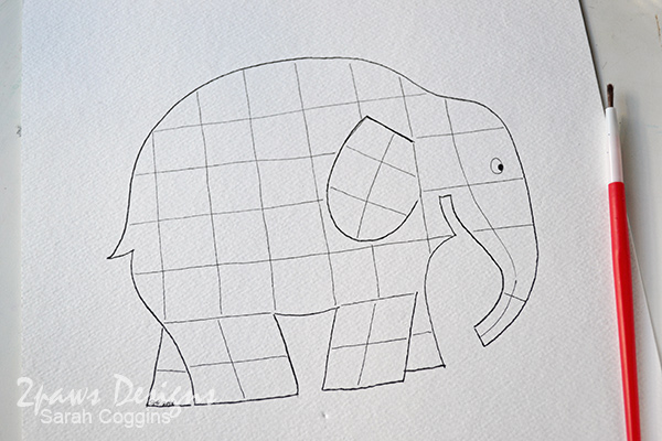 Elmer Elephant inspired Painting: Patchwork Elephant Printable