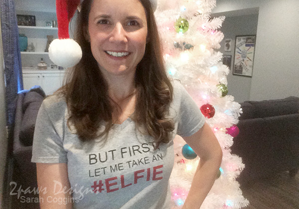 DIY #Elfie T-Shirt: the selfie