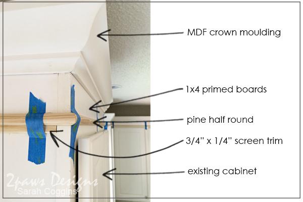 Project Kitchen: Upper Cabinet Moulding - Detail