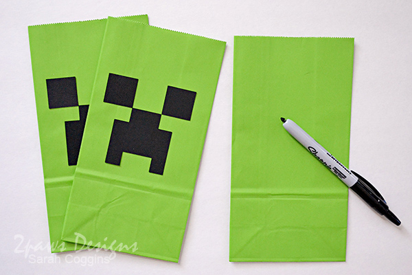 DIY Minecraft Creeper Party Favor Bags #Guides4eBay #ad