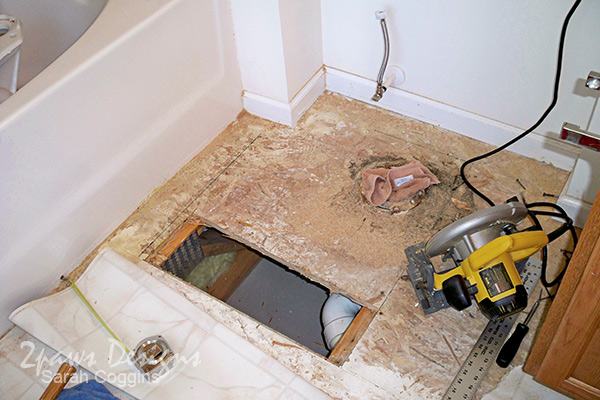 Water Damage: Master Bathroom Floor 2004